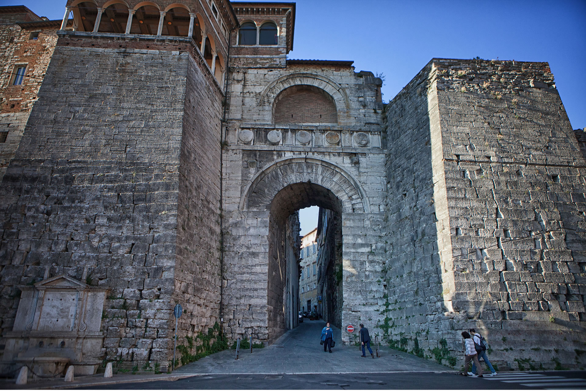 Etruscan arch of Perugia