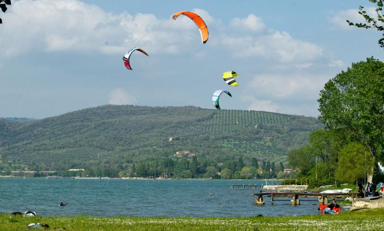 Water sports at the Trasimeno Lake