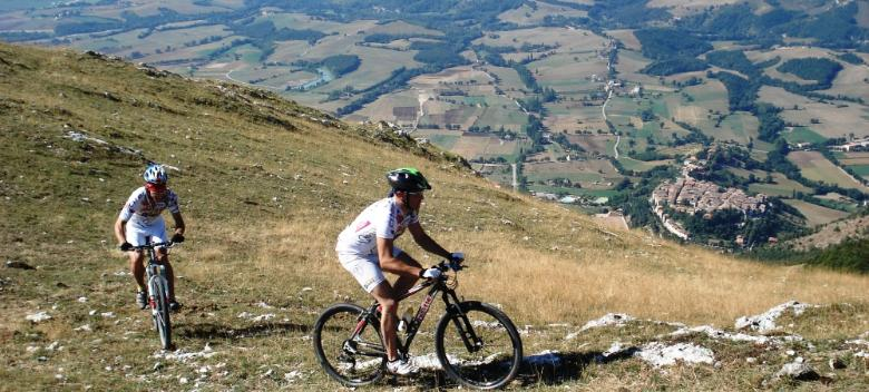 Mountain Biking to the Park of Monte Cucco