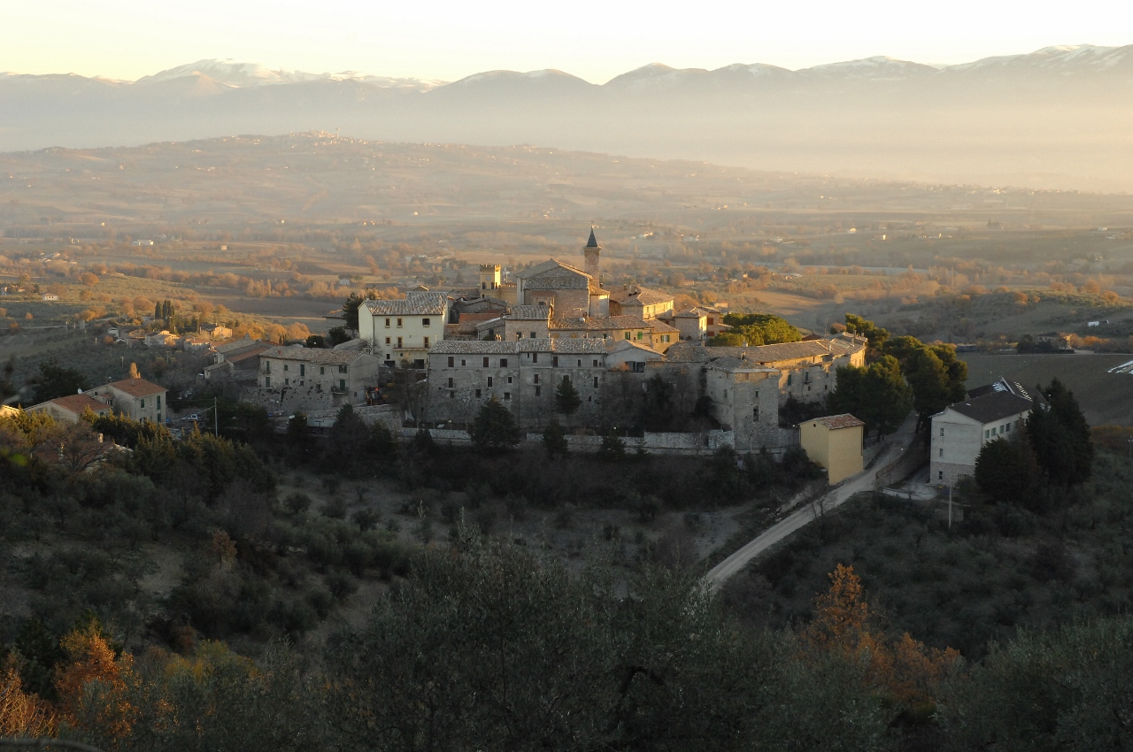 From Montefalco to Giano dell'Umbria along the Sagrantino wine route